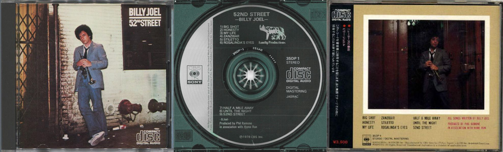 Billy Joel 52nd Street CD